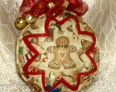 Spicy and Sweet Gingerbread Man Quilt Ornament