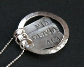 Circle of Love Custom Necklace (3 Names)