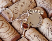 My Therapy Necklace--Wine and Chocolate
