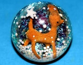 The Most Adorable Baby Deer in a World of Glitter and Sprinkles - Giant Resin Dome Ring