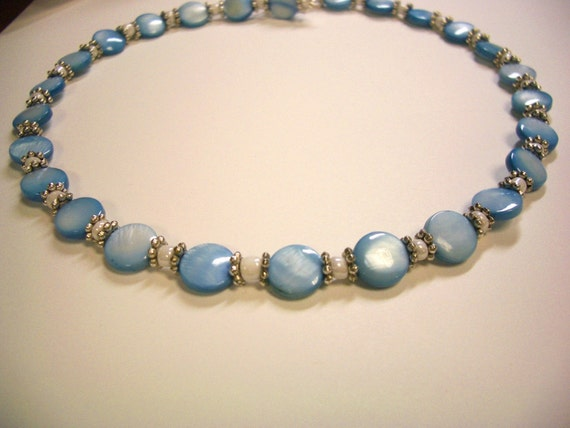 Light Blue Mother of Pearl necklace