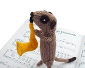 Meerkat Musician, playing sax, saxophone, saxophonist, musical instrument, woodwind, meercat