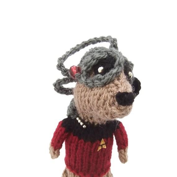 Locutus of Borg, Star Trek Meerkat, Picard, TNG, scifi animal, handmade in UK, startrek, geek meercat