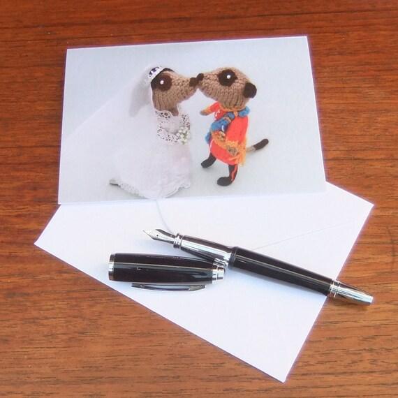 CARD Meerkat Royal Wedding Balcony Kiss