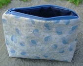 Green and blue zipper pouch