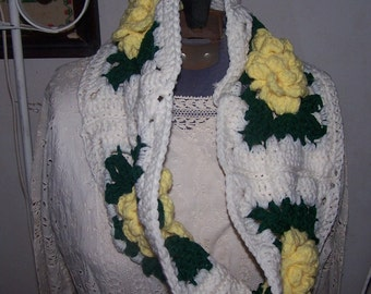 Granny Square Cowl infinity scarf wrap