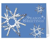 Snowflakes - Bicycle Chain Christmas Card