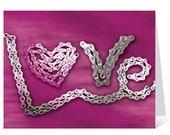 LOVE - Bicycle Chain Greeting Card
