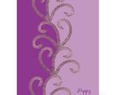 Purple Passion - Bicycle Chain Birthday Card