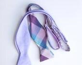 two lilac bow ties- custom listing for David