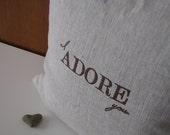I Adore You Pillow Slip