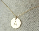 Gold Initial Necklace | Gold Letter Necklace | Gold Monogram Necklace | 14K Gold Filled Name Necklace | Custom Initial Jewlery | ERiaDesigns