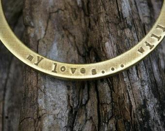 Personalized Bracelet - Custom Bangle Bracelet - Hand Stamped (Engraved) Personalized Jewelry OCTAVIA Bracelet - Eriadesigns