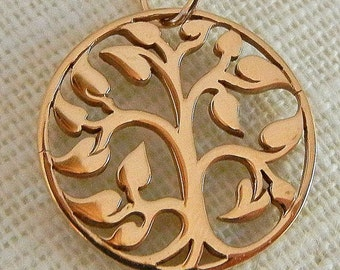 Family Tree Necklace, Bronze Tree of Life Pendant on 14K Gold Filled Chain by E. Ria Designs