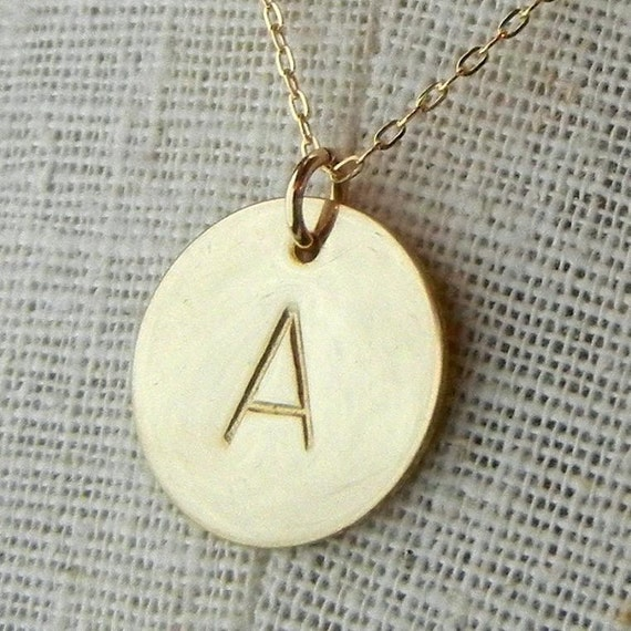 gold initial necklace gold letter necklace gold monogram necklace 14k gold filled name