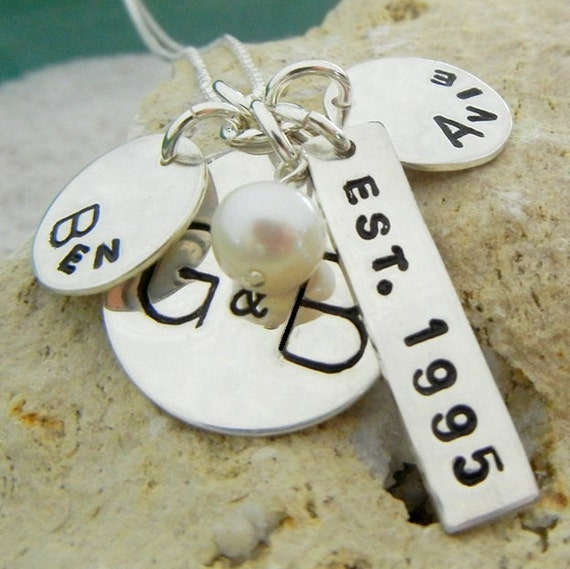Custom Family Necklace | Custom Charm Necklace | Personalized Name Charms | Silver Name Charms