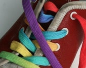 Rainbow Shoe Laces-Long