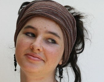 Chocolate Brown Headband/Dread Wrap