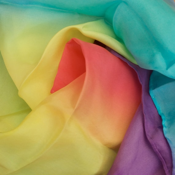 Waldorf Inspired Rainbow Imaginative Play Silk - 53X53cm