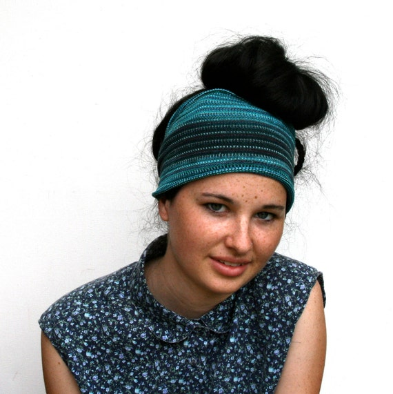Dread Wrap / Headband in Turquoise and Slate