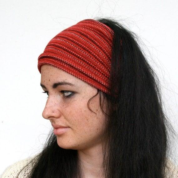Dread Wrap / Headband in Scarlet Red