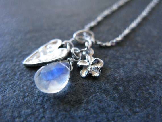 Delicate silver necklace gemstone jewelry dainty charm necklace sterling silver modern simple jewelry everyday necklace