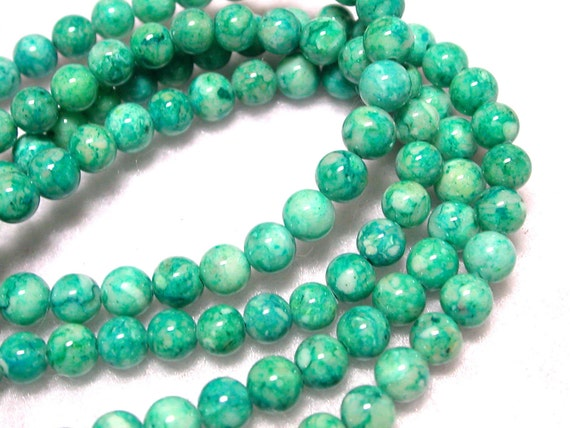 4mm Green Beads 4mm Light Green Riverstone 16 inch Strand