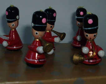 little wooden  musical band