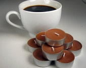 Coffee Scented Tea Lights, Soy Wax Candles, Fresh Brewed Coffee, Brown Tealights