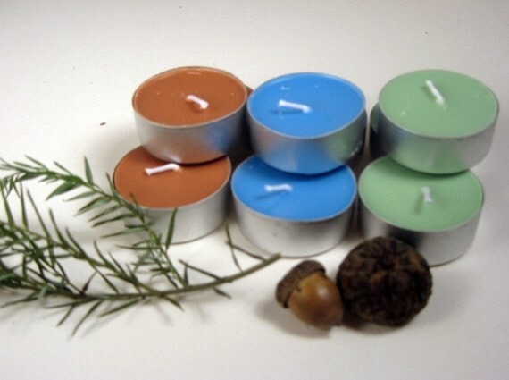 Tea Lights - Oregon Sampler Pack - Scented soy wax candles, cedar, huckleberry, juniper, pacific NW