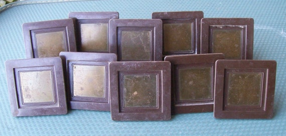 10 vintage mod square chunky plastic handles includes hardware