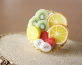 Tropical Feeling - Sterling Ring - Fruit Tart Collection