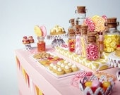 Candy Dessert Table - 1/12 miniature - FREE SHIPPING