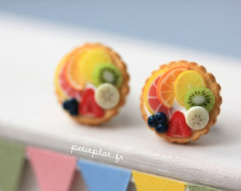 Fruit Tart Earrings - Tutti Frutti - Fruit Tart Collection