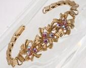 Vintage Pink Aurora Borealis Bracelet