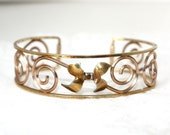 Vintage Rose and Yellow Gold Filled Krementz Bow Bracelet