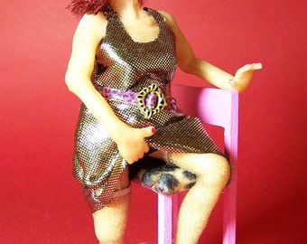 Roxanne - a ooak dollhouse miniature figure / doll by CWPoppets