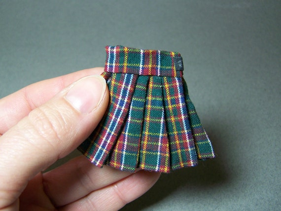 kilt / skirt 12th scale miniature clothing by CWPoppets