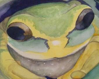 Tree Frog Watercolor