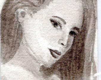 Kristen--original India ink drawing