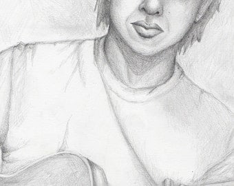 Strum--original pencil drawing