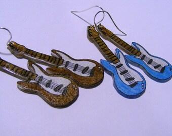 Custom guitar earrings