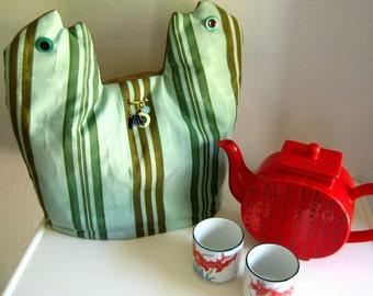 Tea Cozy-Twin Fishes Tea Cozy, Contemporary Tea Cozy