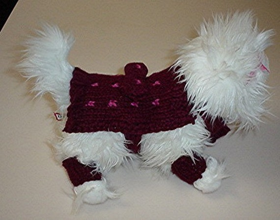 Small Dog Sweater and  Spats  Leg Warmers Chihuahua Yorkie Pets Dog Clothes