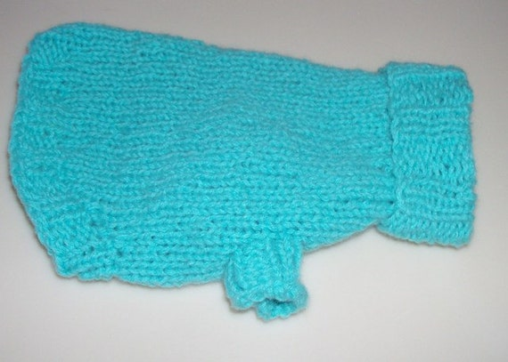 XX-Small Cashmere Aqua Turtleneck Dog Sweater Chihuahua Yorkie Poodle