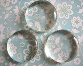 20 Molded Glass Gems Circles 2 inches 50mm Ornaments LARGE Paperweights Blanks Supplies Rounds DIY Crafts