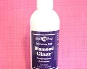 2 Diamond Glaze Glue Large Bottle 8 oz. Dimensional Adhesive Glass Tile Jewelry Making 3D 3 Dimensional Lacquer