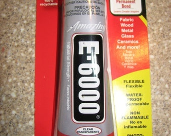 E6000 Glue Adhesive Industrial Strength Craft 2 oz. for Magnets Glass Jewelry Making