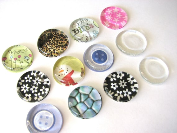 Bag of 100 Clear Glass Flat Thin Discs Circles Button-Like
