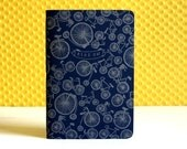 Ride On Letterpressed Soft Cover Notebook (Silver/Navy Blue)